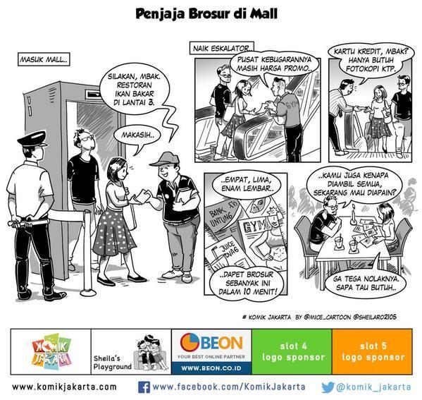 Penjaja Brosur di Mall by @sheilaro2105 #KomikJakarta @mice_cartoon