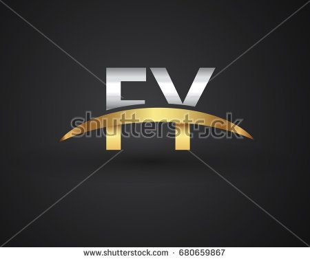 FY initial logo company name colored gold and silver swoosh design. vector logo for business and company identity.