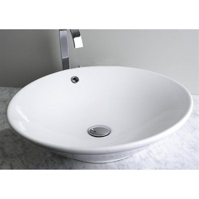 Vessel Sinks Rona : ... 228-IMG-228 White Above Counter Large Round Ceramic Vessel Vanity Sink