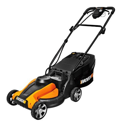 WORX WG775 Lil'Mo 14-Inch 24-Volt Cordless Lawn Mower with Removable Battery and Grass Collection Bag - [HOME & GARDEN]