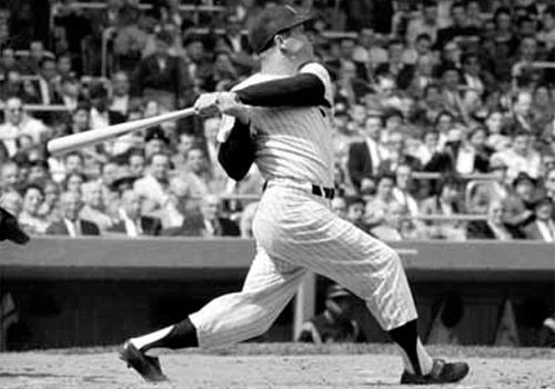 Mickey Mantle...could have been the greatest Yankee ever...but he's still an all time great! The Mick!