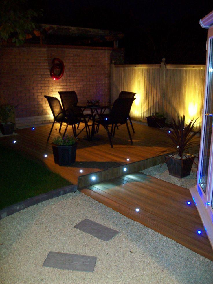 Garden Decking at night