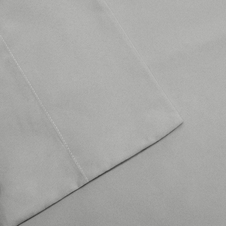 Madison Park 3M Scotchgard Microcell Deep-Pocket Sheets, Grey Cal King
