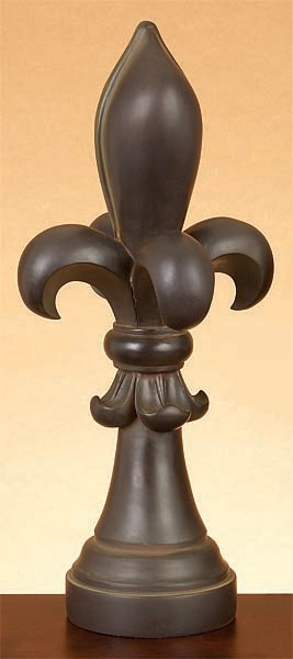 Fleur De Lis Table Decor:I Have These Decor Shelves On The Side Of My