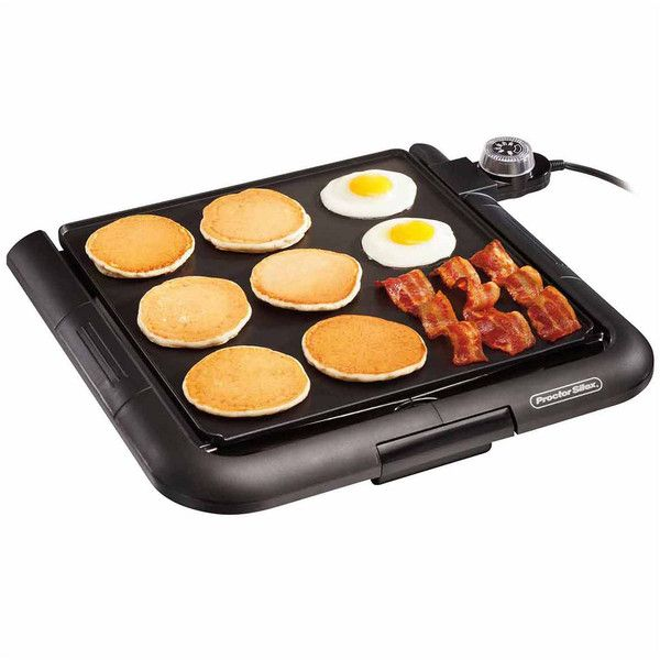 Proctor Silex Family-Size Electric Griddle (245 SEK) ❤ liked on Polyvore featuring home, kitchen & dining, small appliances, electric griddle, proctor silex griddle, proctor silex and kitchen electrics