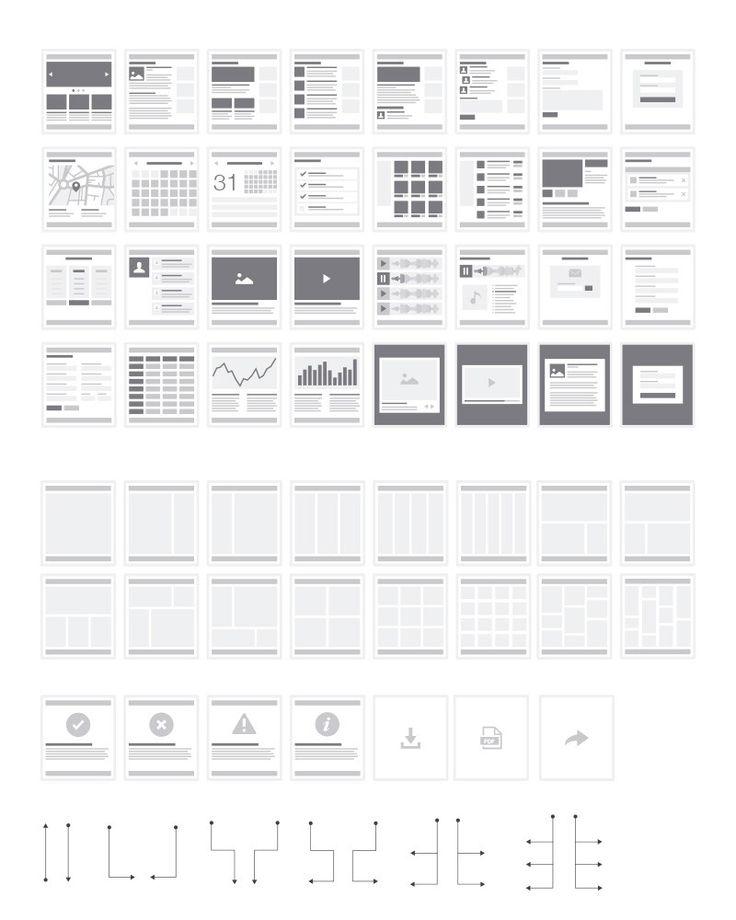 Intranet Sitemap: Web Sitemap & Flowchart Tiles