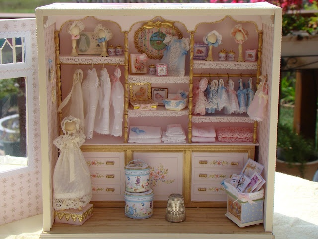 Annie's Small World: Club Project  Dainty baby girl's armoire.