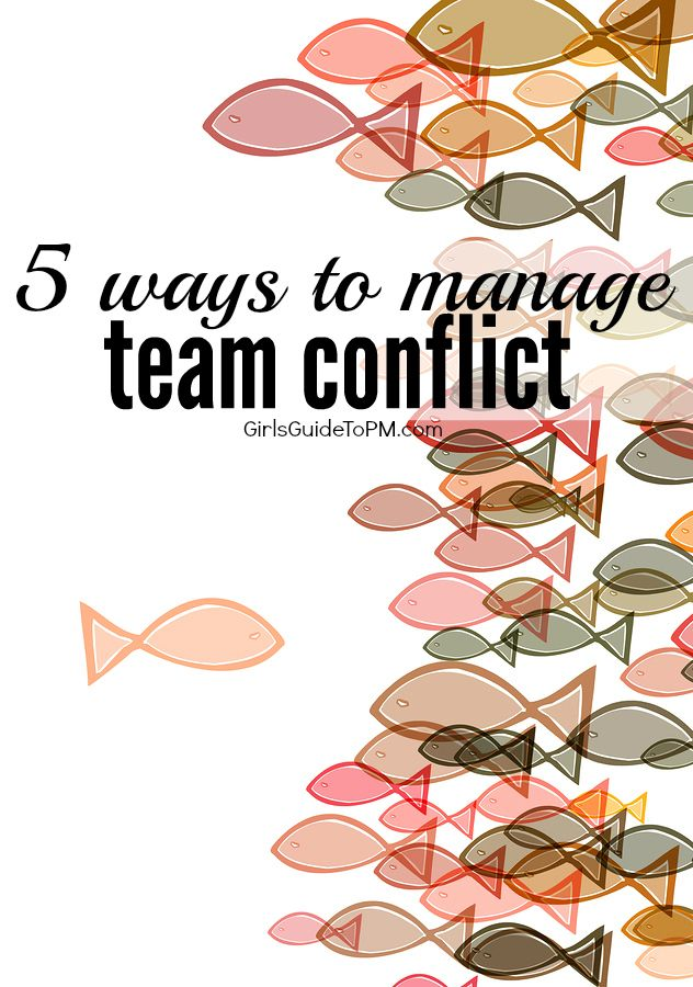 How to manage and resolve an internal conflict in your team.