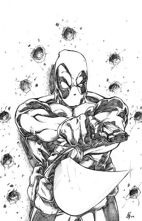 Ejay Russell - Deadpool Comic Art