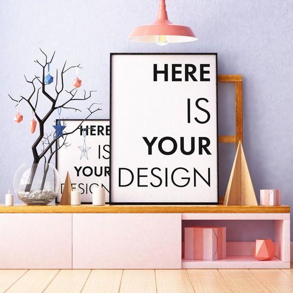 5 Christmas Mockups Posters Poster Mockup Design Freebie Design