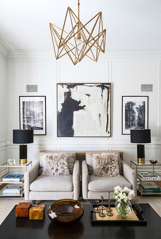 Black And Gold Home Decor Accessories Make A Stylish Statement On All Points Elegant Meets Modern Meets Living Room Designs House Interior Living Room Decor
