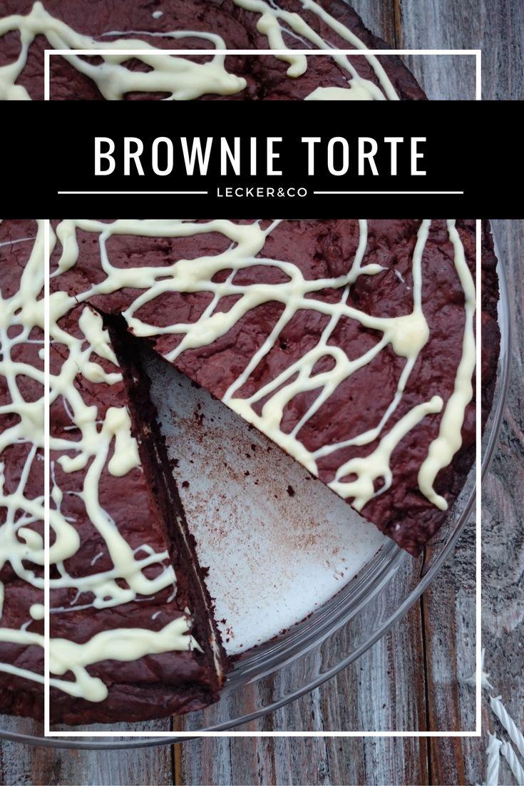 Brownie Torte mit Quarkfüllung