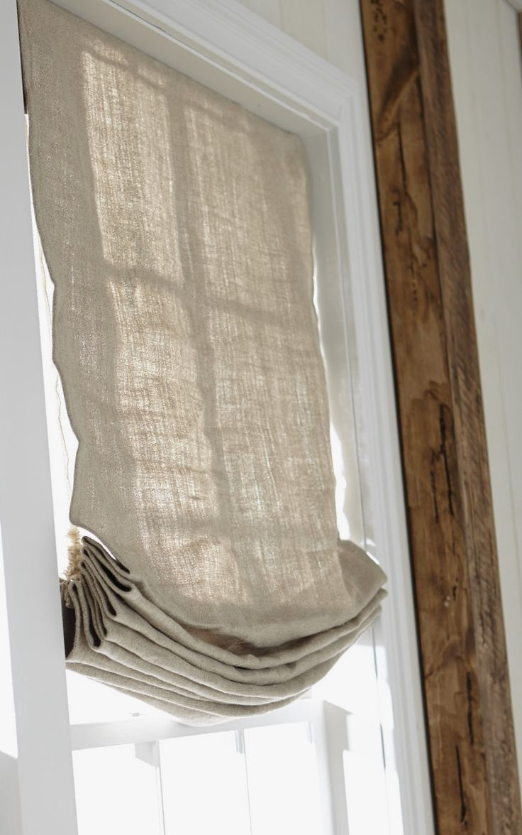 Create A Relaxed Look With Soft Roman Shades With Images