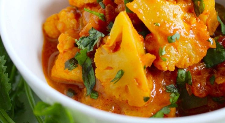 This traditional curry recipe combines cauliflower and aromatic spices to create a colorful, flavorful masterpiece that can easily be cooked at home.