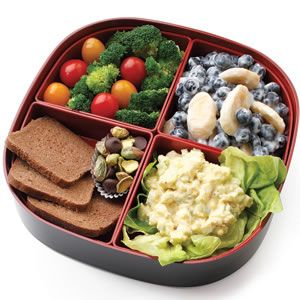 Egg Salad Lunchbox. I think the kids would feel very special to get something like this.