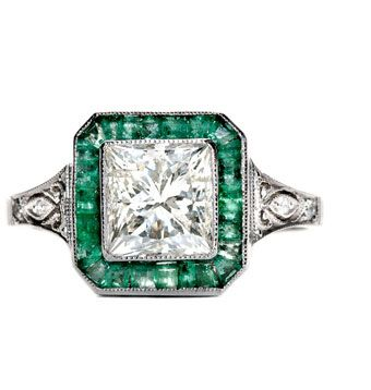 vintage emerald engagement rings | ... Vintage Engagement Rings and Antique Jewelry Blog by Trumpet & Horn