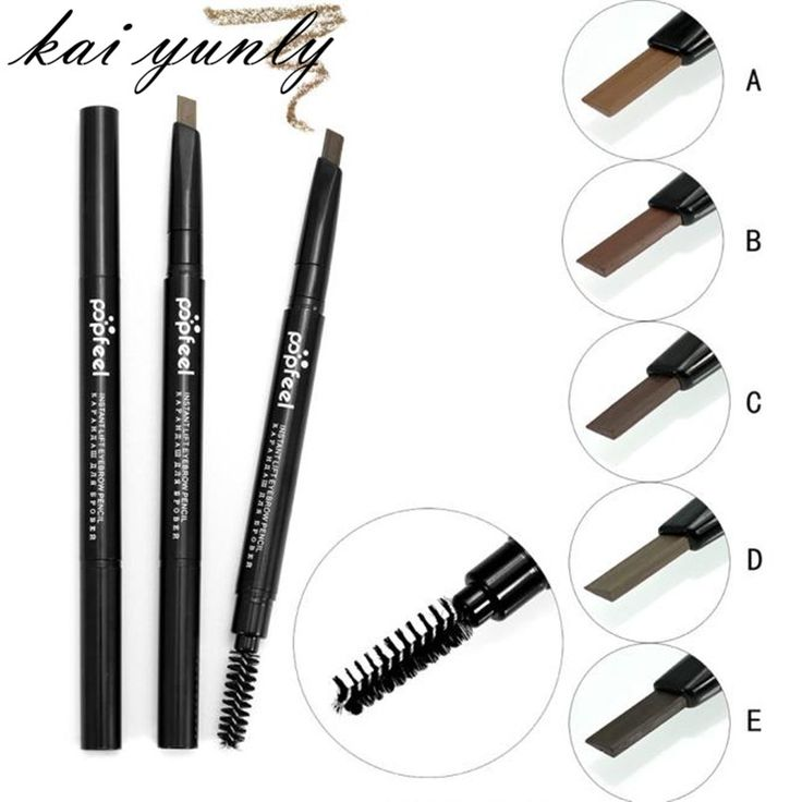 kai yunly 1PC Cosmetics Makeup Toiletry Double Automatic Rotation Eyebrow Eyeliner Pencil Pen Make Up Beauty Tool Oct 24