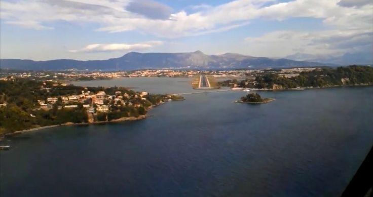 Βίντεο: Η Κέρκυρα μέσα από το πιλοτήριο ενός Boeing 737