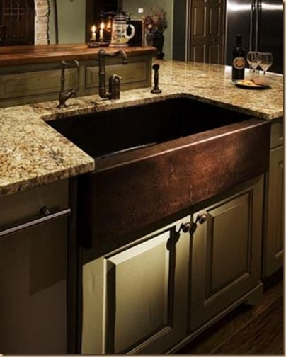 oil rubbed bronze farm house sink  For the Home  Pinterest