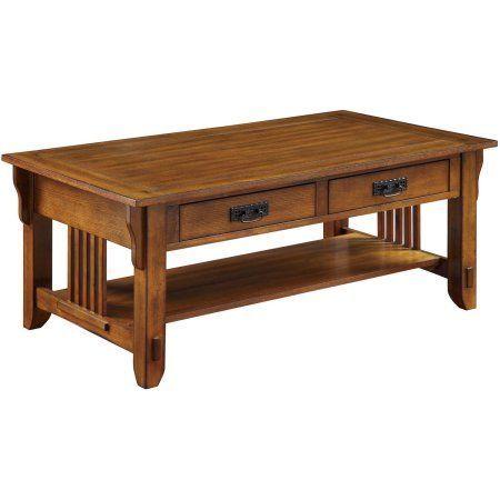 Coaster Traditional Coffee Table, Oak Finish