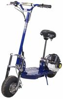 The XG-555 gas powered scooter cannot be broken. The frame is made of high tension steel, and the deck is made of high grade Billet Aluminum, these 2 features alone make this the toughest gas powered scooter on the market today. This gas scooter comes with a strong yet easy to use pull start ignition system. The XG-555 has NO stickers on the deck, the logo is engraved by machining right into the Aluminum plate. One word sums it up for this model and that is SHARP!