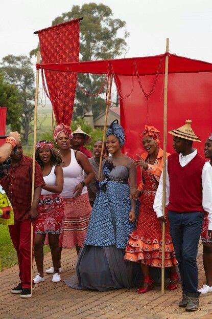 Sesotho traditional wedding dress