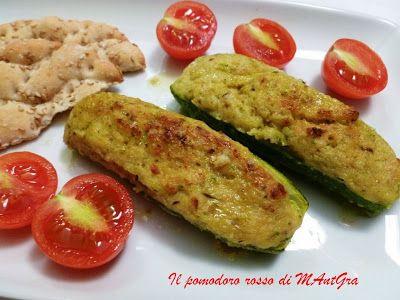 Il Pomodoro Rosso di MAntGra: Zucchine ripiene di prosciutto e robiola