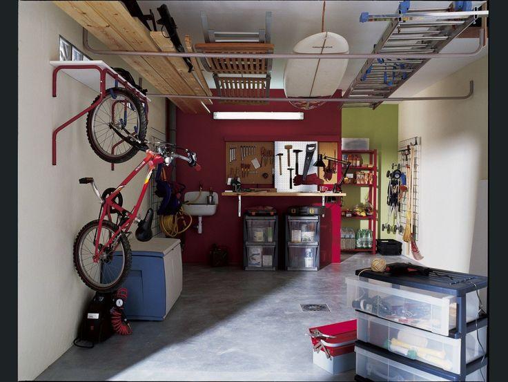 1000 id es sur le th me rangement de v los dans un garage sur pinterest ran - Idee amenagement garage ...