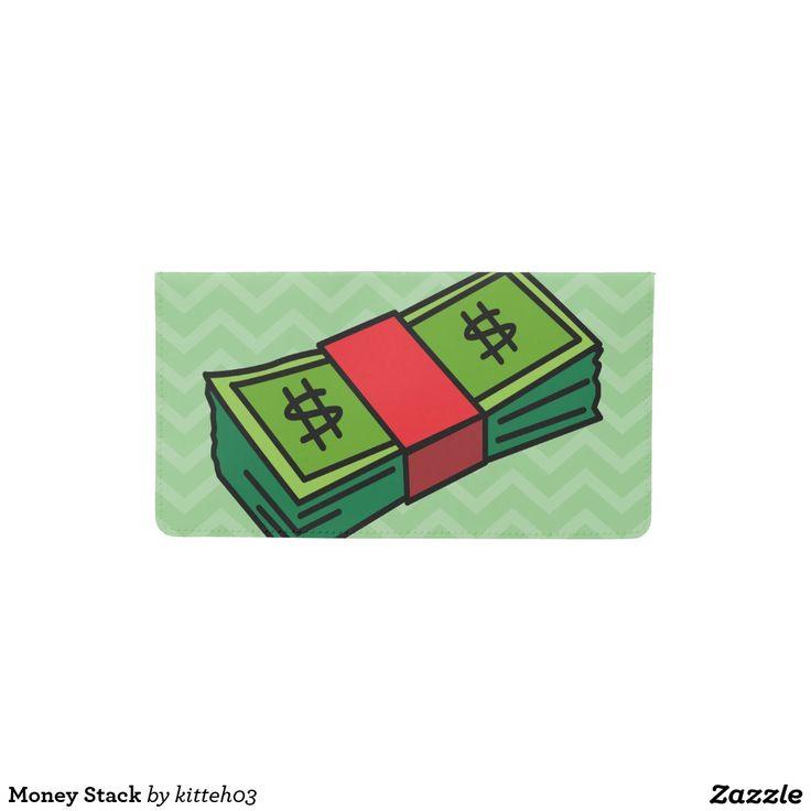 Money Stack Checkbook Cover