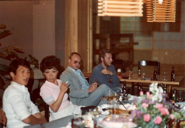 Rinus Schulz en Jan Voormeij in Japanese restaurant, Kyo Amsterdam