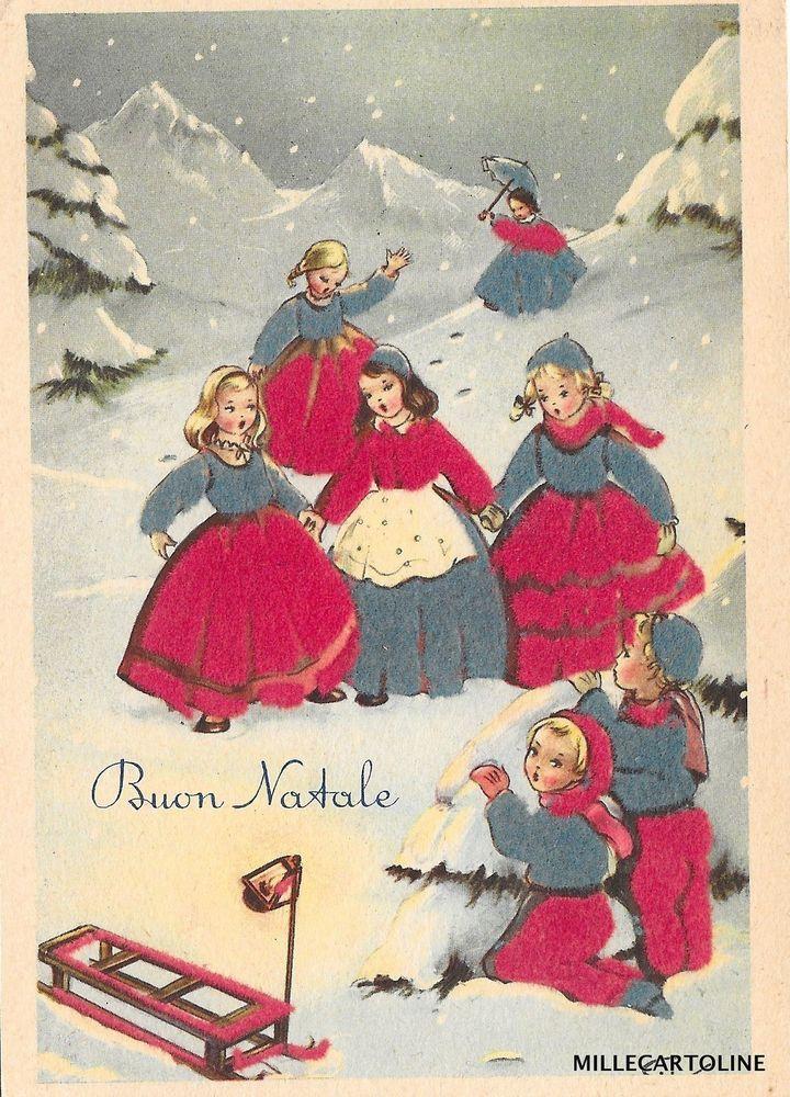 Buon Natale Anni 50.Buon Natale Stoffa 5 Cartoline E Illustrazioni Natalizie