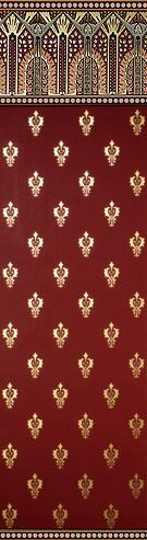Bradbury & Bradbury, Victorian wallpaper, Dresser II, Terra Cotta/Burgundy