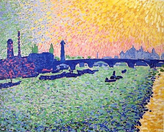 """André Derain, """"Puente de Waterloo"""", 1905-6,  Museo Thyssen, Madrid"""