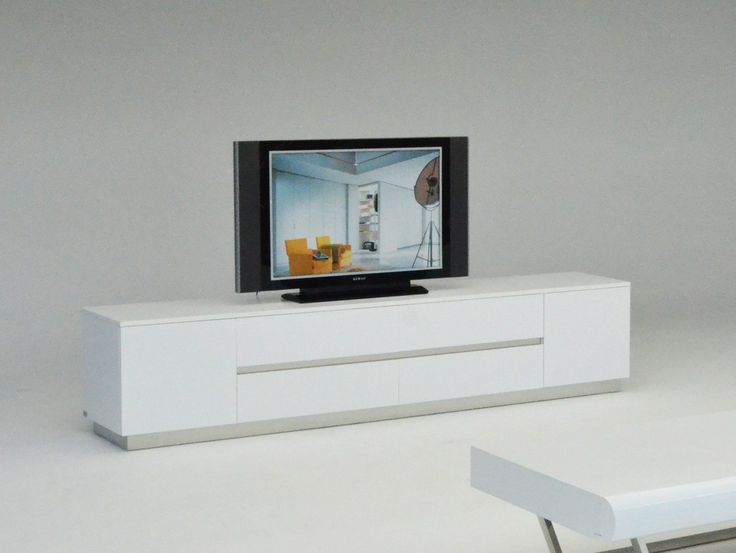 Modern Lacquer TV Stand With Crocodile Texture. By Armani Xavira. Comes In  Your Choice Of White And Black. The Bottom Of The TV Stand Is Not Mirrored.