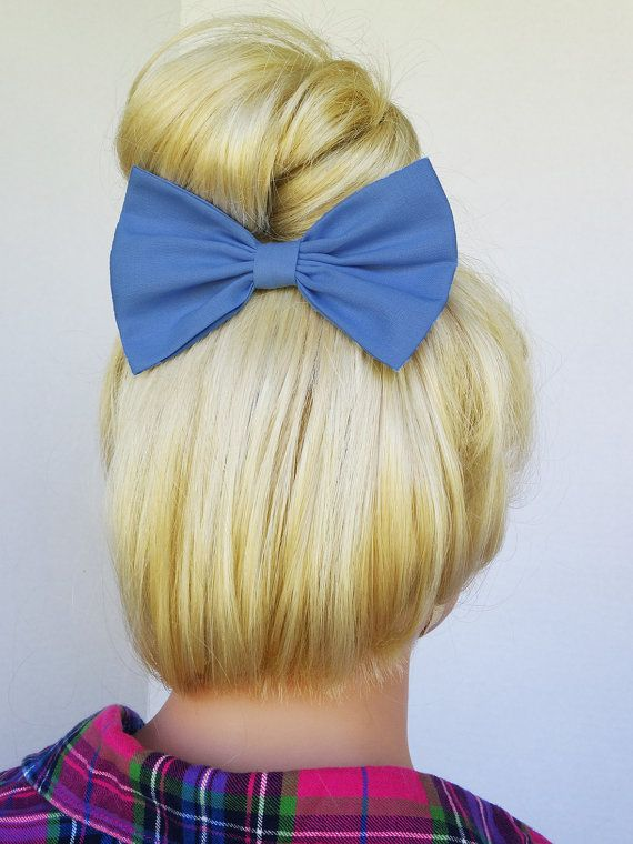 Periwinkle Hair Bow by JuicyBows