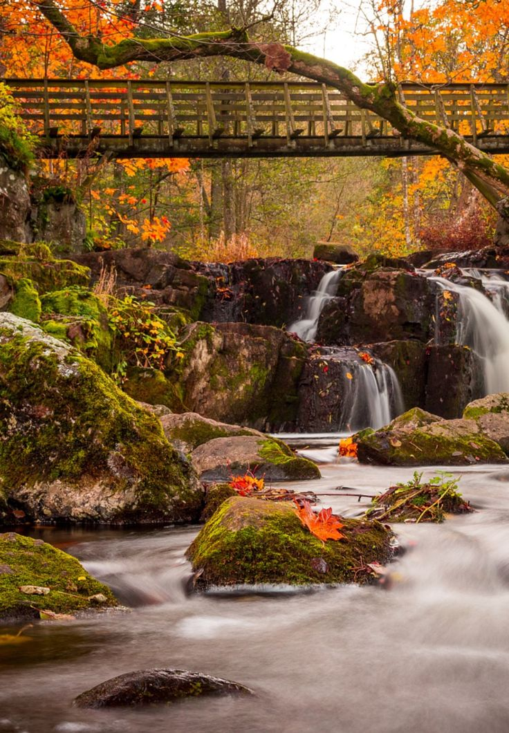 Hallamölla fall by Hugo Hofverberg Hagman - Photo 126660187 - 500px (Sweden)