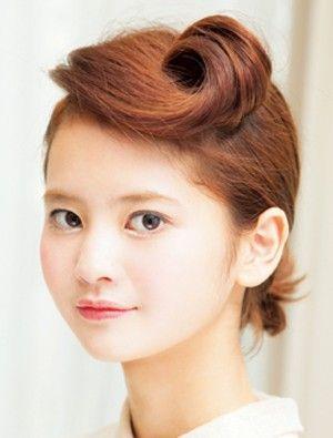 個性的でチャーミングな、スッキリ大人の横ロール - ヘアスタイルを探す   愛され女子のヘアカタログ