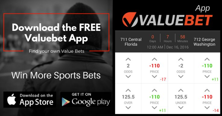 December 15 NCAAB Men's Basketball Valuebet App Sports betting tip: Central Florida @ George Washington