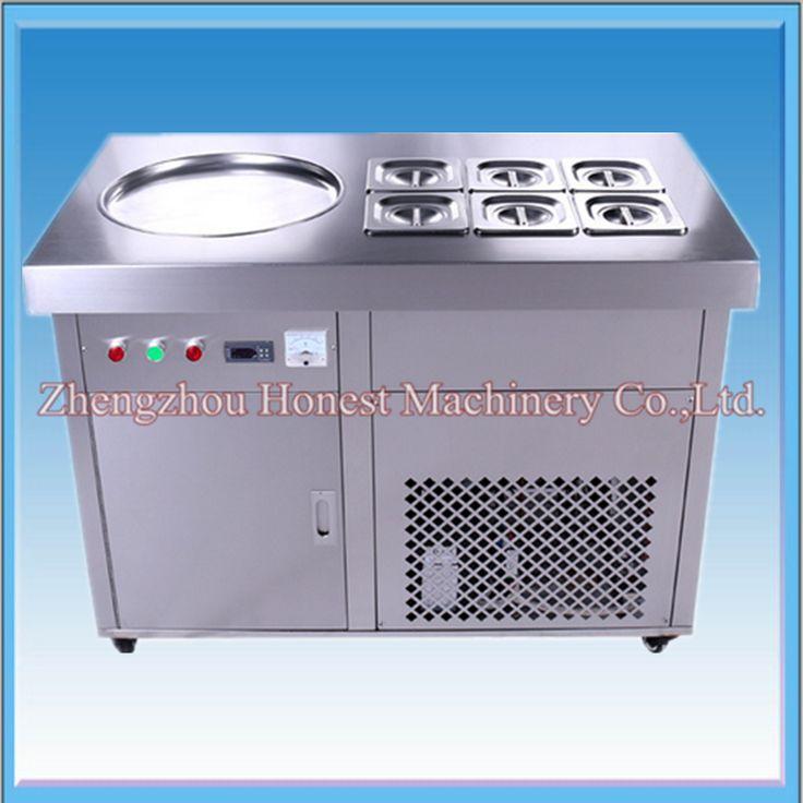 Thailand Fry Ice Cream Machine / Fried Ice Cream Roll Machine