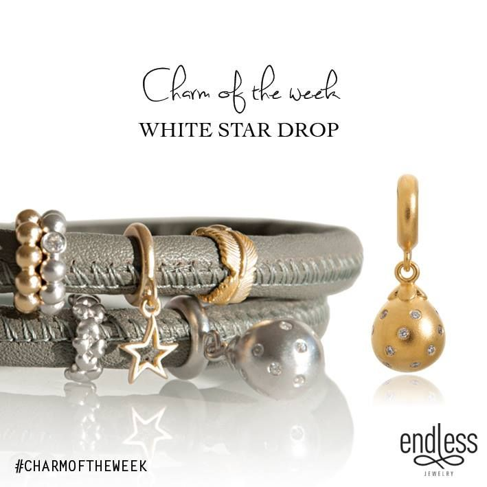 White Star Drop | Charm of the week | Endless Jewelry | Leather Bracelets | Charm Bracelet | Gold and Silver Charms. JH Faske Jewelers (979) 836-9282