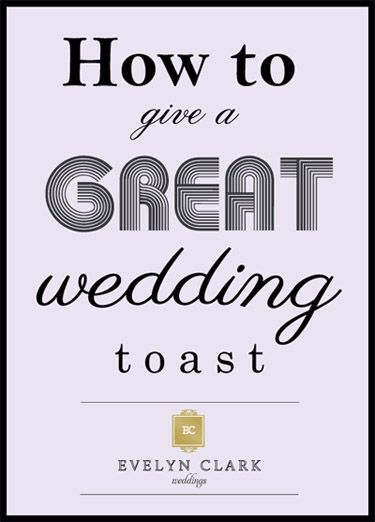 Some of the perks of being a wedding planner include the fact that I get to listen in on the heartfelt wedding toasts from my couples' closest family and friends.  These toasts are often funny, touching and sweet, and give me insight into aspects of my clients' lives that I did not have.  …