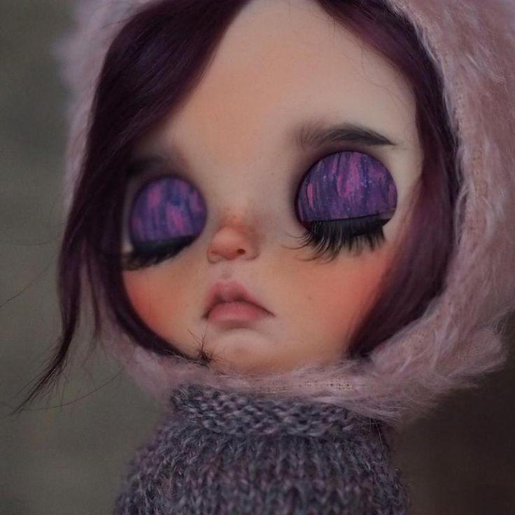 Nova•• ooak custom Blythe dollwith mohair weft hair