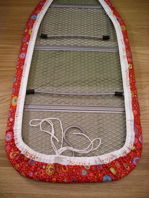 Brilliant tutorial on how to replace your old, tired, and ugly ironing board cover with a custom one