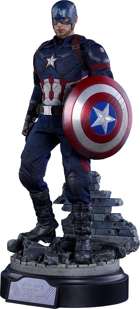 Captain America Civil War: Captain America Battling Version by Hot Toys
