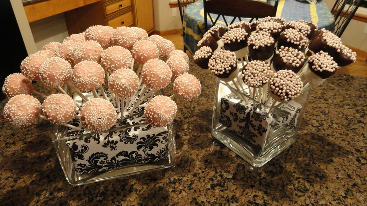 Cake pops and pearl marshmallows!