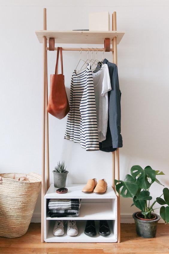 meuble penderie au design minimaliste, idéal pour les petits appartements