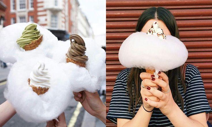 Krämig glass möter fluffig sockervadd på Milk Train Café