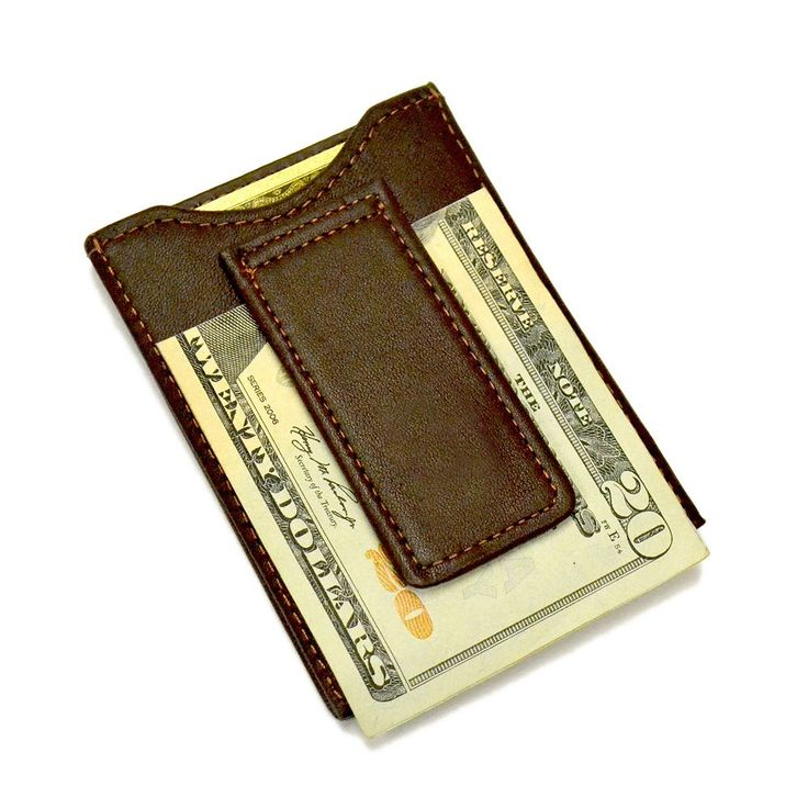 Royce Leather Magnetic Money Clip Wallet, Adult Unisex, Brown