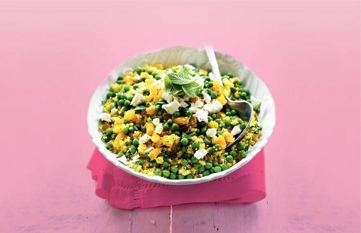 Haal het voorjaar in huis met deze kruidige lentecouscous met geitenkaas - Recept - Allerhande