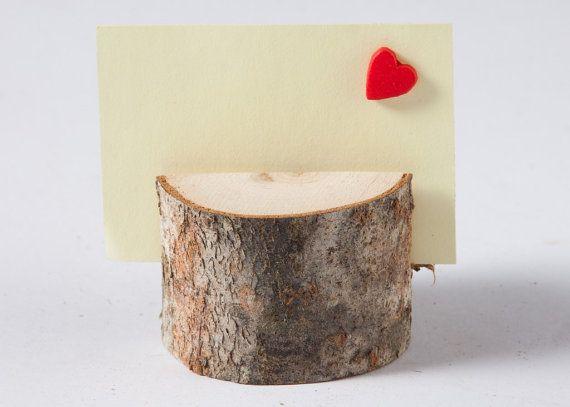 20 rustic wedding table number holder by PlaceCardHolderShop